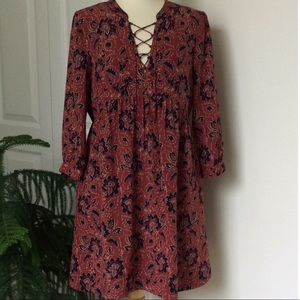 Madewell Rose Assam Silk Dress Small